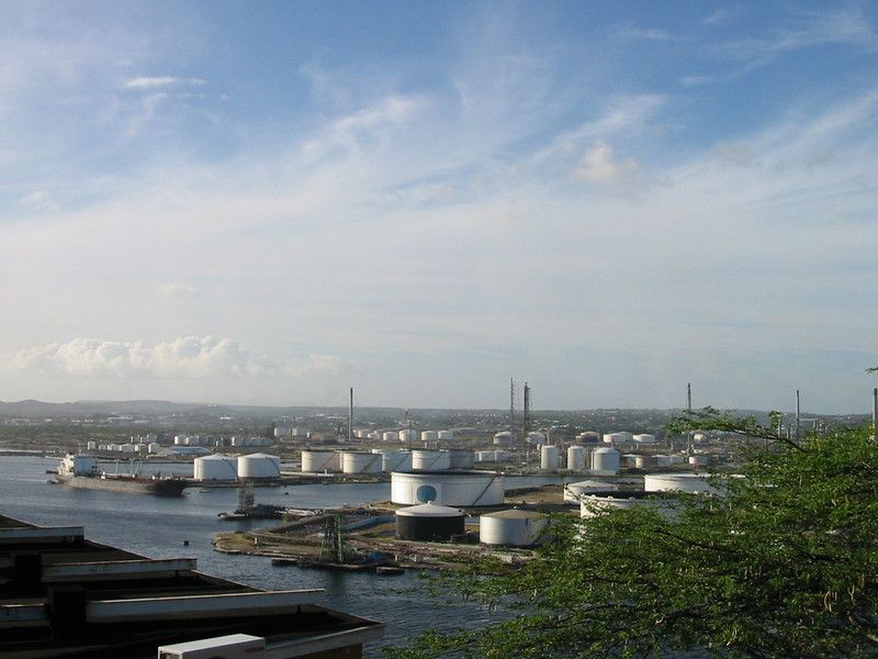 Oil Refineries, as seen from Fort Nassau