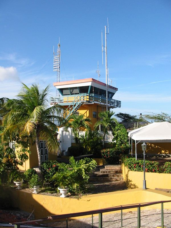 The Fort Nassau Control Tower for ships