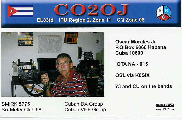 CARD FROM CO2OJ, WORKED FROM EN43 ON 2 METERS FROM JULY 2007 2 METER OPENING.
