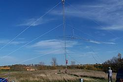Force 12 EF-180C 80m Rotatable Dipole is on the Tram line and on the way up!
