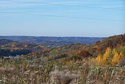 View of the valley on a beautiful fall afternoon in La Crosse, WI