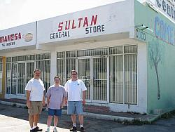 The Sultans of Shwing at the Sultan General Store in Curacao.