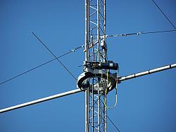 Closeup of K0XG orbital ring rotor on 10M tower