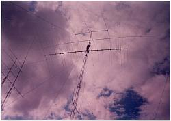 Michael KB9TWI waiting for antenna.