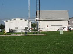 The new 40 meter yagi elements are as wide as the barn AND the 