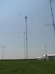 40 yagi in the foreground and 3 element