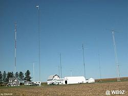 The WB9Z antenna farm... which has