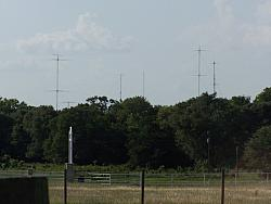 Long shot of antenna farm taken from south